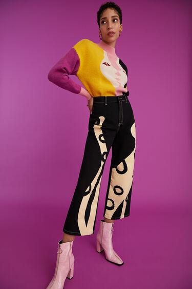 Calças culotte cropped | Desigual