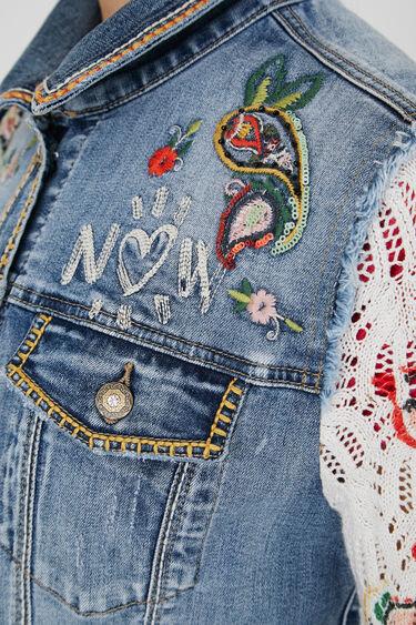 Veste en jean slim tricot | Desigual