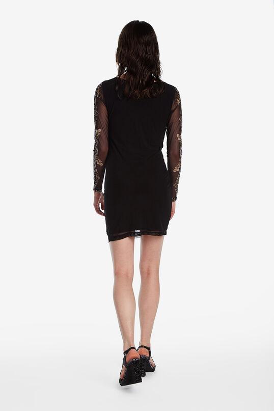 Vestit curt de mànigues transparents Designed by M. Christian Lacroix | Desigual
