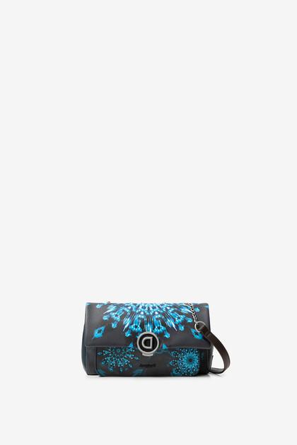 Blue mini-mandalas sling bag