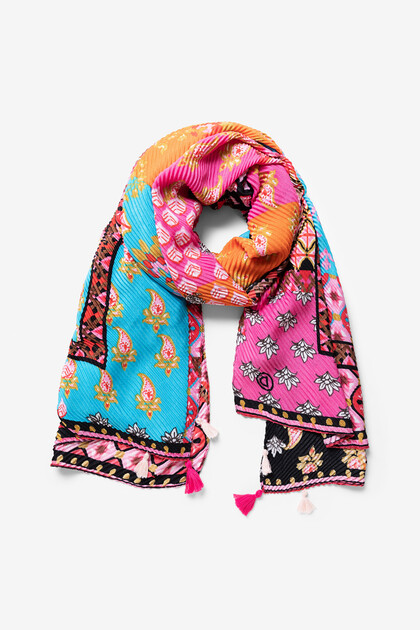 Jacquard and floral foulard