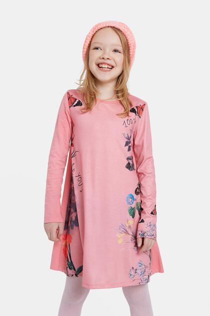 Blumiges T-Shirt-Kleid