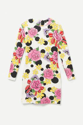 Robe courte élastique fleurs