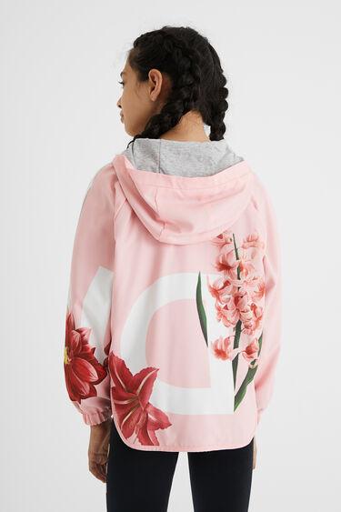Hooded jacket rounded hem | Desigual