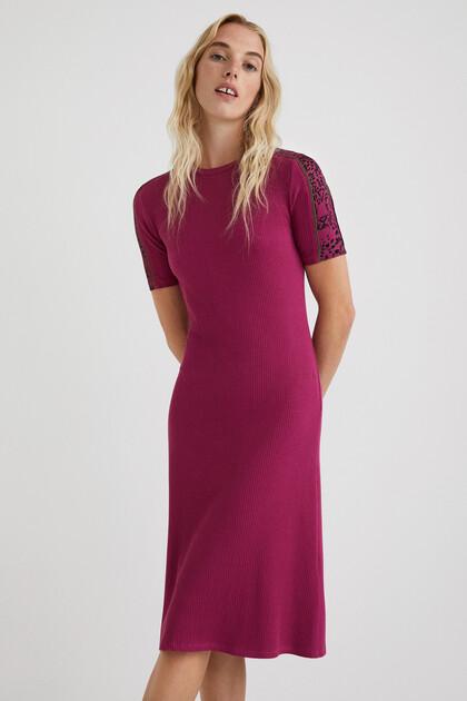 Ribbed midi-dress