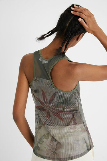 Sport T-shirt top palm trees | Desigual