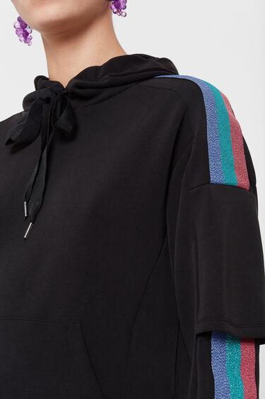 Sweatshirt with bands of Lurex | Desigual