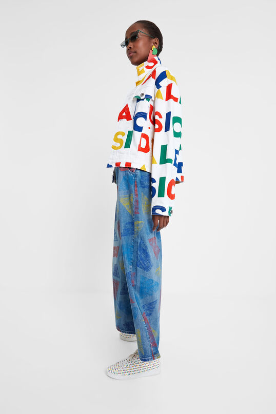 Logomania jean jacket   Desigual