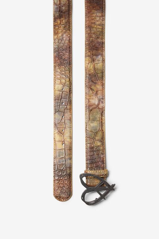 Reptile skin effect belt   Desigual