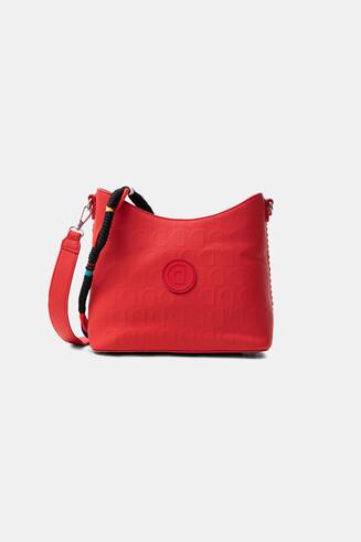 Red bag in logomania