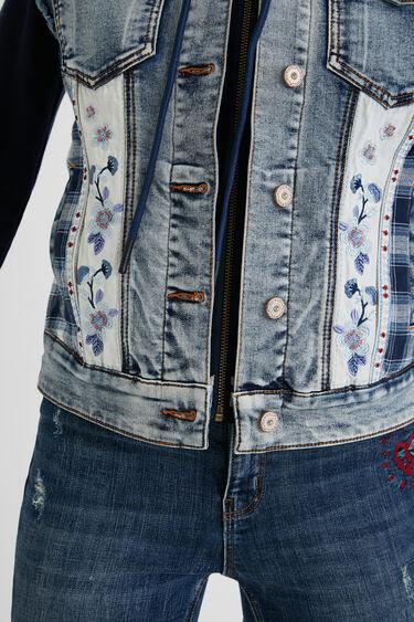 Giacca slim in jeans doppio materiale | Desigual