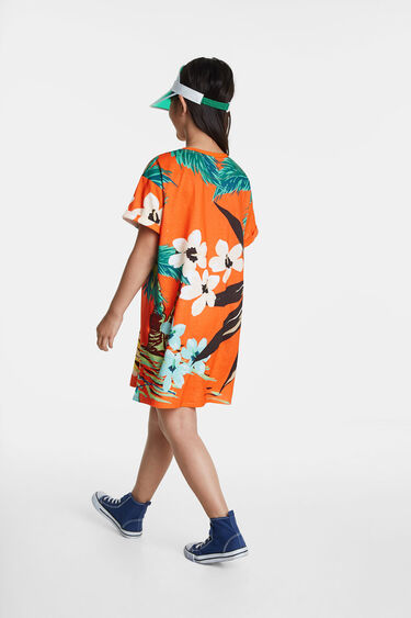 Hawaiianisches T-Shirt-Kleid   Desigual