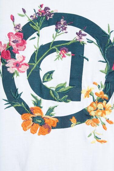 Camiseta orgánica D invertida floral | Desigual