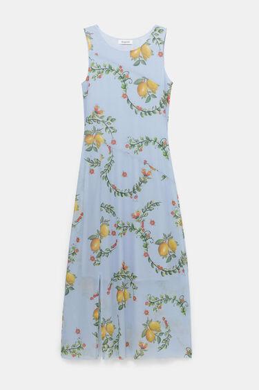 Long flared dress opening | Desigual