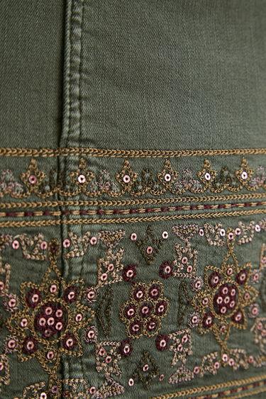 Minijupe en jean broderies | Desigual
