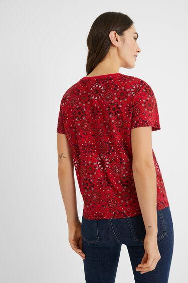 100% katoenen T-shirt met mandala's | Desigual