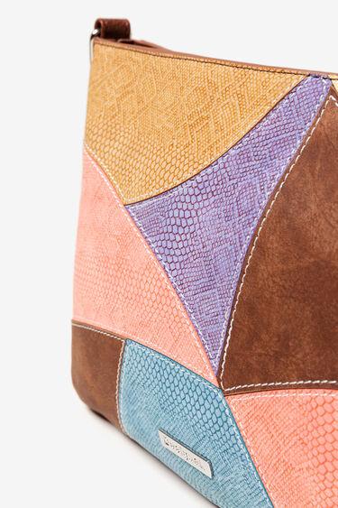 Bandolera patches PU color Jackie Spot | Desigual