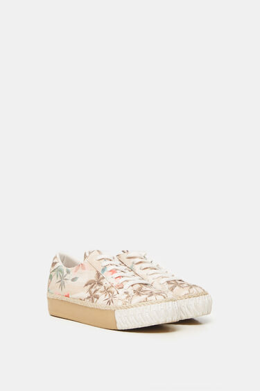 Platform sneakers camoflower   Desigual