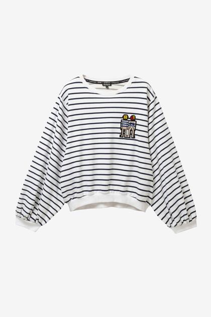 Short wide-fit sweatshirt