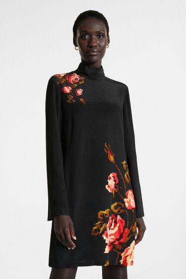 Gerade geschnittenes blumiges Kleid | Desigual