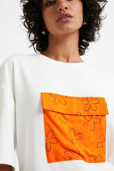 Koszulka z kieszenią w kwiaty   Desigual
