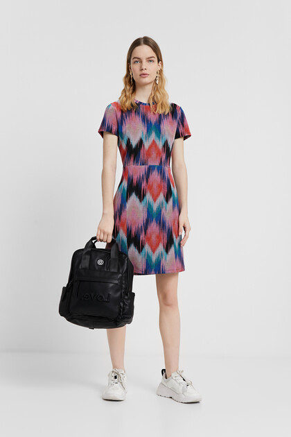 Arty psychedelic diamonds dress