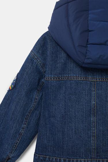 Veste courte bi-matière capuche   Desigual