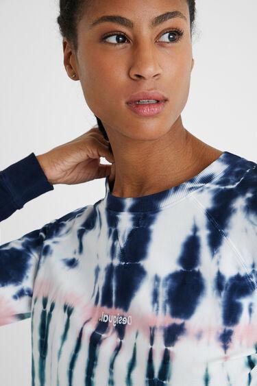 Tie-dye trui met elastische manchetten | Desigual