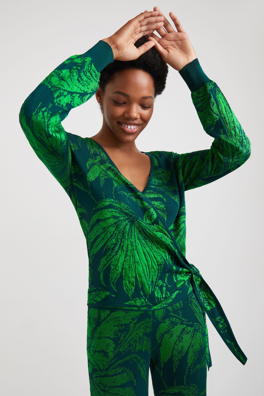 Pull jacquard tropical - GREEN - L