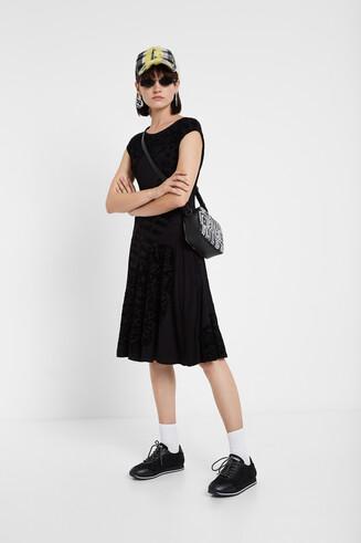 Flared short sleeve dress