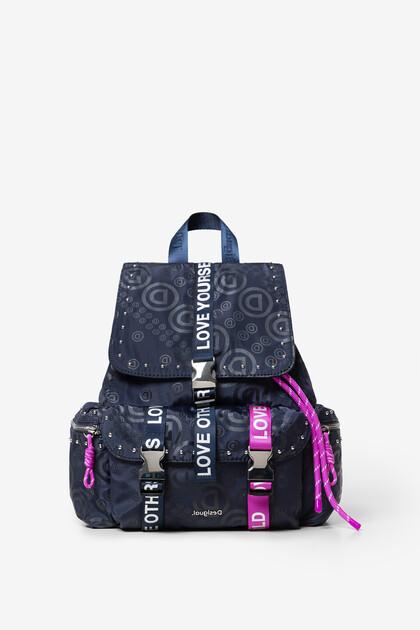 Violet logomania backpack