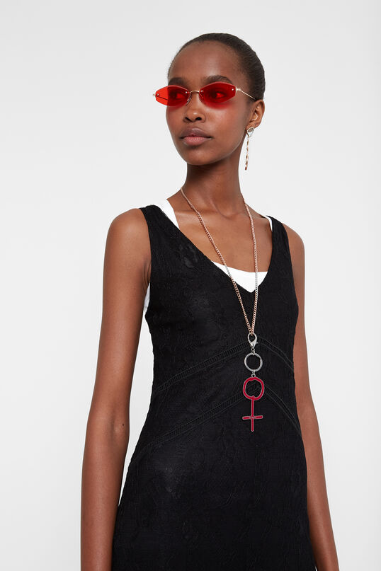 Long crochet dress | Desigual
