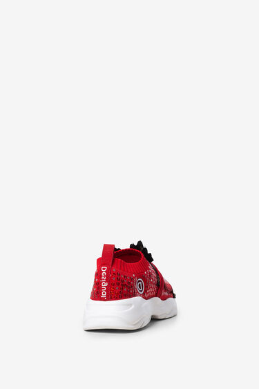 Sneakers with sequins and floral patch | Desigual