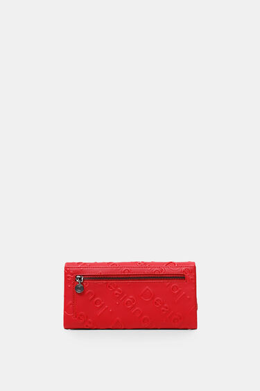 Rectangular wallet logo relief | Desigual