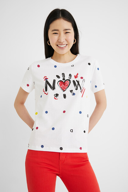 T-shirt short sleeve dots