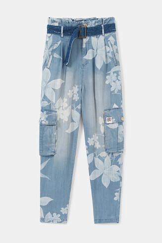 Floral eco jeans