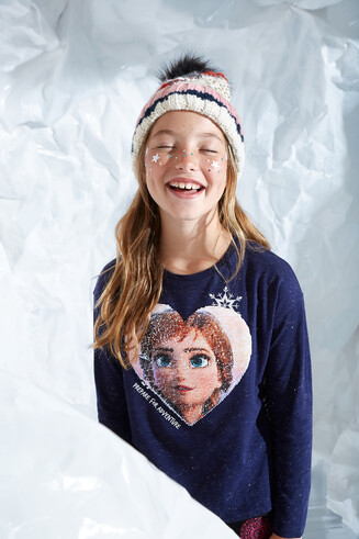 "T-shirt reversible sequins ""Frozen II"""
