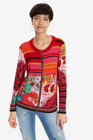Red Jacket with Patchwork Tokio