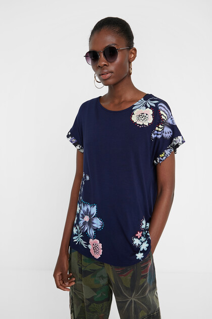 Flowers and butterflies T-shirt
