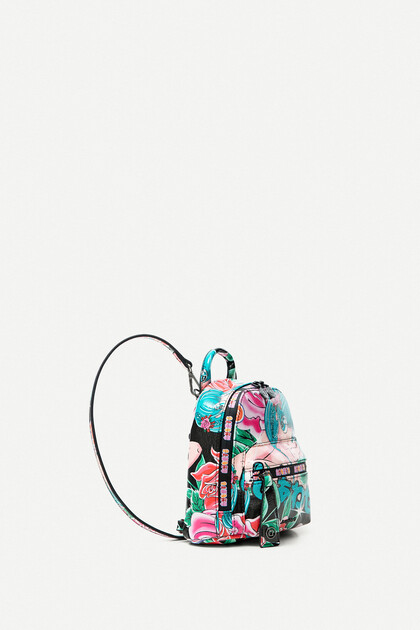 Printed mini-backpack