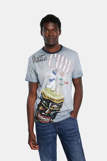 Basic cotton T-shirt Cuba | Desigual