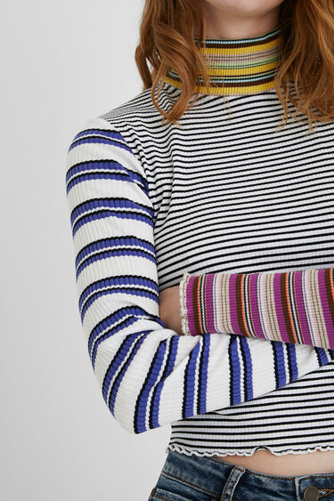 Striped cropped top | Desigual