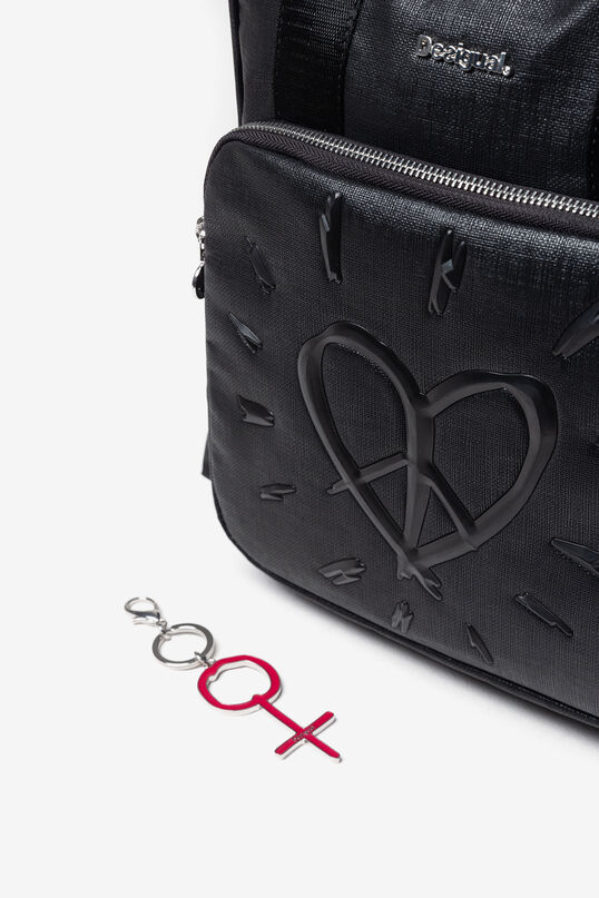 Synthetic leather backpack heart | Desigual