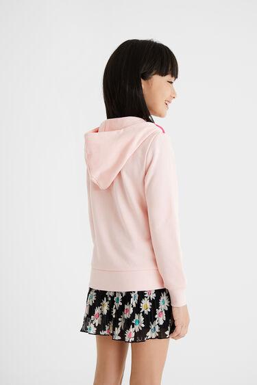 Hooded sweatshirt patch denim | Desigual