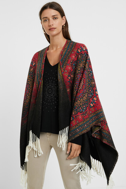Reversible square poncho