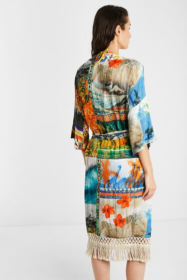 Milieuvriendelijke Hawaïaanse kimono | Desigual