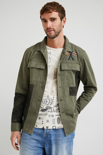 Giacca camicia patch