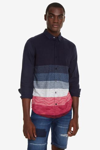 Camisa jacquard franges