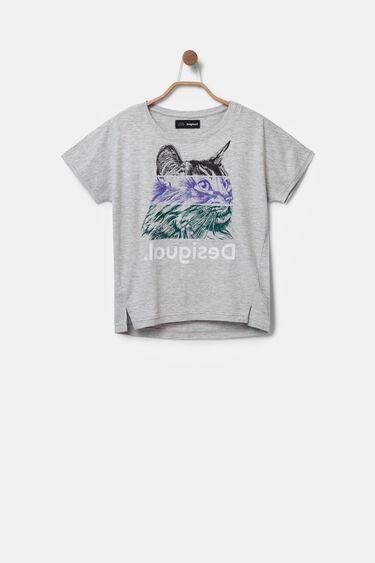 Camiseta gato tricolor bolimanía | Desigual