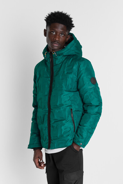 Padded jacket hood